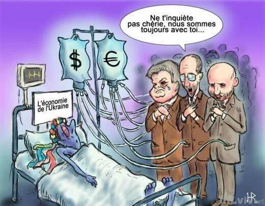 Французька карикатура про українську економіку